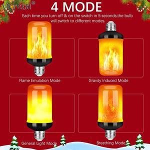4 шт. E27 лампа для эмуляции пламени лампа динамический светильник светодиодный эффект огня мерцающий светильник для сада бар вечерние сваде...