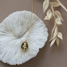 Женское Ожерелье из 18 каратного золота с подвеской в виде Розы