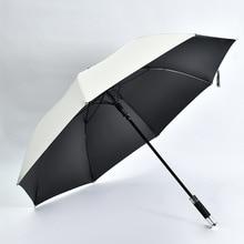 Umbrella Full Fiber Silver-plated Straight Golf Umbrella Vinyl Sunshade Gift Umbrella Outdoor Portable Large Umbrella