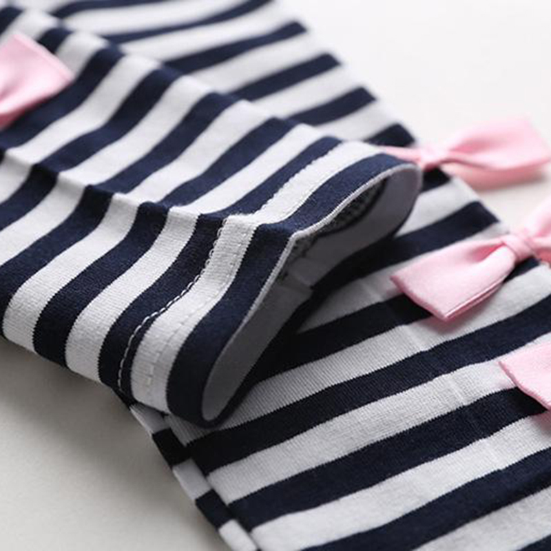 Baby Girls Clothing Sets Fashion spring Autumn Long Sleeve Big bow T shirt casual striped pants 2pcs Kids Clothing Sets 40 in Clothing Sets from Mother Kids