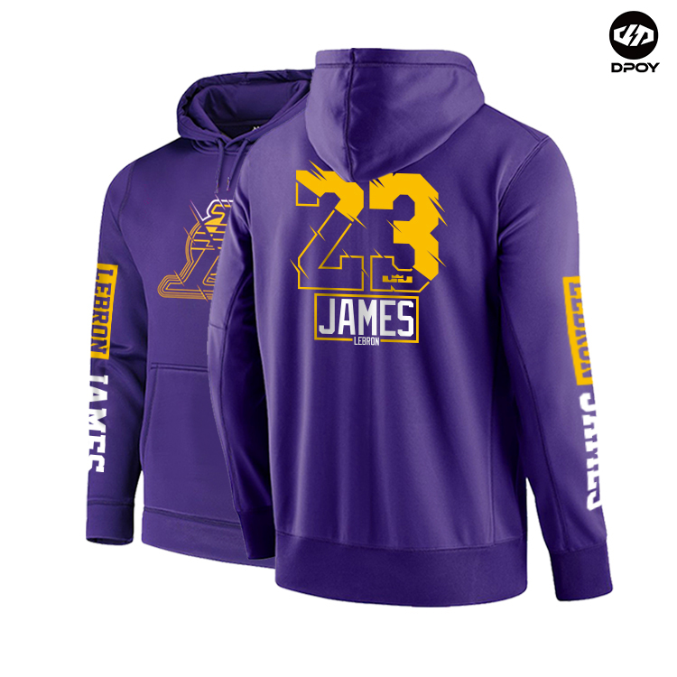 DPOY Brand Design Western Basketball Men's Sweatshirt Hoodies Pullovers Large Size Loose Velvet Warm