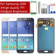 Pantalla táctil para Samsung Galaxy J5 MONTAJE DE digitalizador con brillo ajustado, piezas de reparación, J500 2015 J500F J500FN J500M