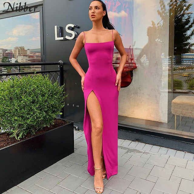Nibber red black New year christmas party long dresses women 2020 spring new bodycon lace up stretch Slim Soft midi dress femme 3