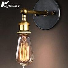 Lámpara de pared de Metal Industrial ajustable Vintage lámpara de pared moderna de latón Retro lámpara de aplique con bombillas LED E27 Edison