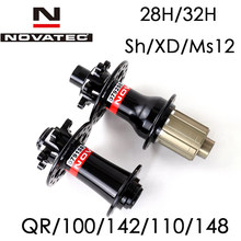 Cubos de freio a disco mtb novatec d791sb d792sb 100x15 142x12 bicicleta hub boost 110x15 148x12 xd sh qr
