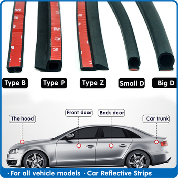P Z D B Type 4 Meters Rubber Sealing For Car Rubber Door Seal weatherstripping Door Rubber Seal Strip Car Sound Insulation seal z type car door seal noise insulation weatherstrip sealing rubber strip trim auto rubber seals z shaped seal