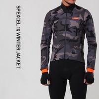 Spexcel 2019 inverno camuflagem à prova de vento térmico ciclismo jaqueta 3 camada tecido de lã térmica na frente inverno tranning jaqueta|Jaquetas de ciclismo| |  -
