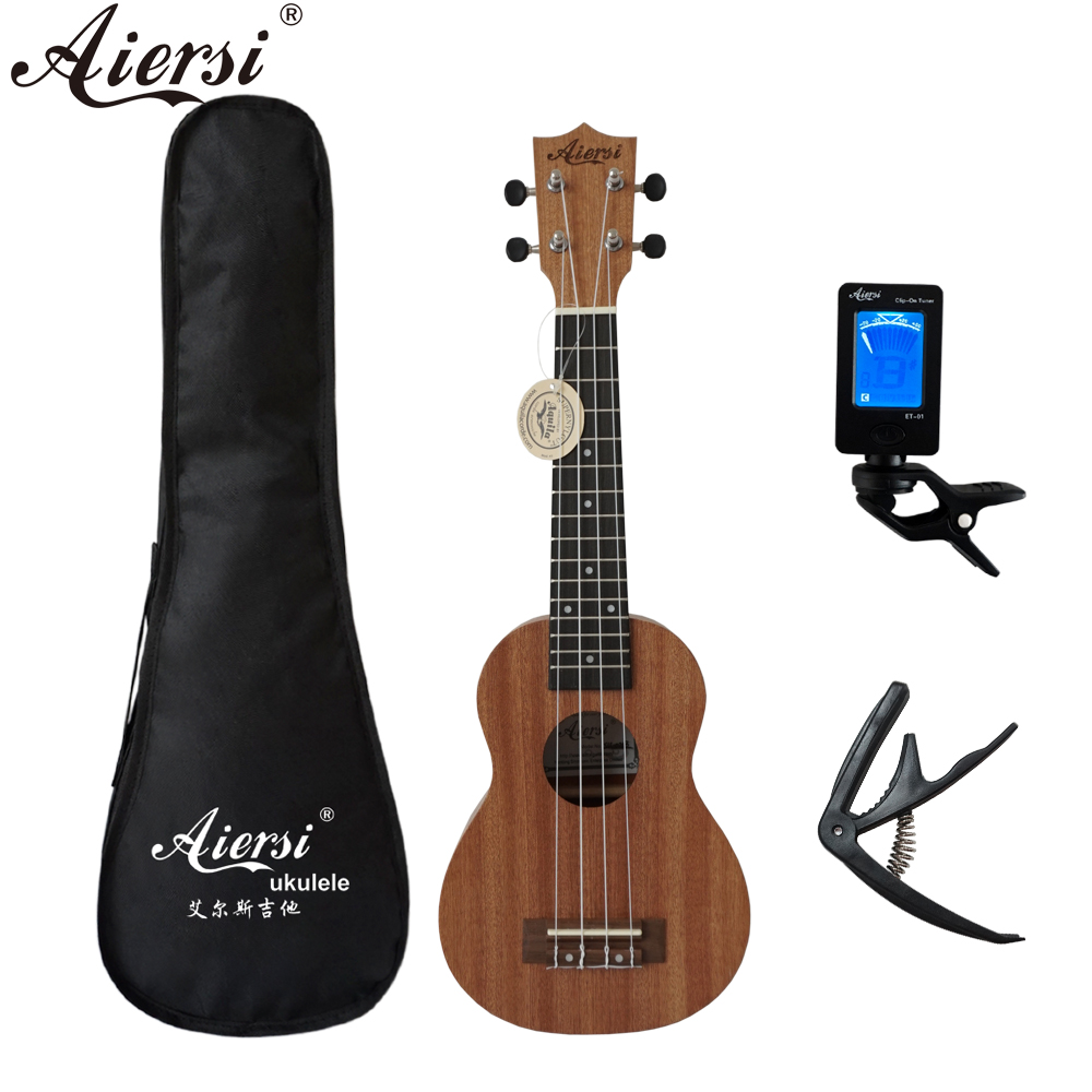 Aiersi Soprano Ukulele Mahogany Hawaii-Guitar Musical-Instrument Brand 21inch title=