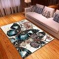 Мультяшные 3D ковры с принтом бабочки для гостиной  спальни  коврики  коврик для прихожей  Детская игровая палатка  коврики для ползания