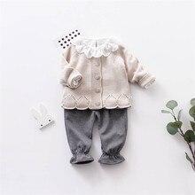 Knitted Baby Cardigan Girls Coat Baby Girls Sweater Autumn T