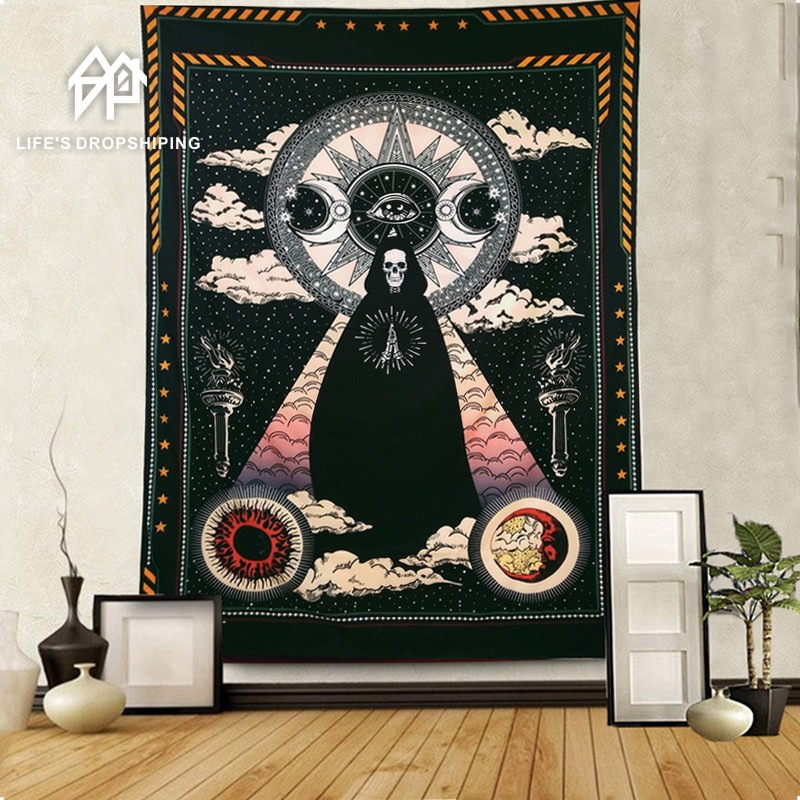 The skeleton Tapestry A god of death Tapestry Home Decorations Wall Hanging Wall Tapestry Blanket Living