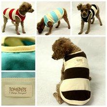 Tomepets dog summer cute vest pet stripe t shirt cotton puppy