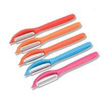One Pack Kitchen Fruit Peeler Multi-functional Skin Slicer Stainless Steel Vegetable Peeler Random Color
