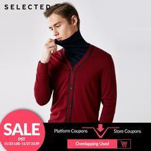 SELEZIONATO 100% di Lana a maniche lunghe Cardigan Maglione del Pullover Lavorato A Maglia degli uomini Vestiti T
