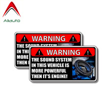 Aliauto Warning Car Sticker 2 X The Sound System IN THIS VEHICLE IS MOR
