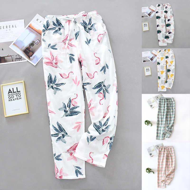 Pantalones Estampados Para Mujer Pijamas De Algodon Pantalones De Casa A La Moda Holgados Finos 2020 Pantalones Para Dormir Aliexpress