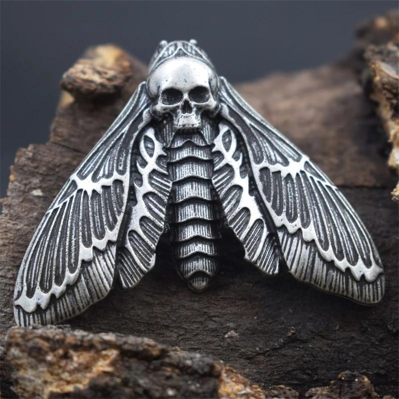 Gift Pouch Death's-head Hawkmoth Deathshead Hawk Moth Skull Pendant Necklace w