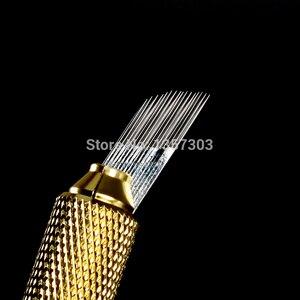Image 5 - 100個3行ライン16Pin針恒久眉毛メイク針microbladingペンマニュアル刺繍送料無料のための