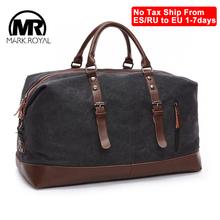MARKROYAL męskie torby sportowe płócienne torby rekreacyjne torby podróżne torby podróżne o dużej pojemności dzikie torby torebki odporne na przecięcie torby na ramię tanie tanio CN (pochodzenie) Canvas Versatile 24cm 54cm zipper Torba podróżna 1 25kg Markroyal 8655 Travel Bag SOFT Na co dzień Canvas with leather
