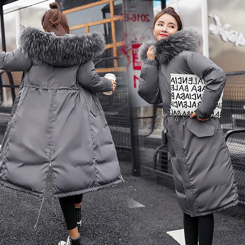 Большой меховой зимний Жакет женский теплый 2019 новый модный свободный пуховик с капюшоном с хлопковой подкладкой пальто женские толстые дл...