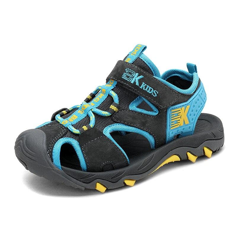 Boys sandals size 27~39# cut-outs child summer big boys sandalias Children's shoes kids canvas rain breathable flats shoes