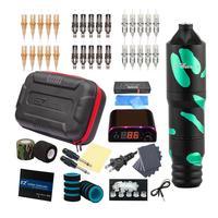 EZ-Kits de tatuaje con filtro V2 Plus, máquina de tatuaje rotativa, pluma, agujas de tatuaje, fuente de alimentación, Kits de accesorios de tatuaje