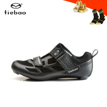 Road-Cycling-Shoes Triathlon Tiebao Self-Locking Sapatilha-Ciclismo Breathable Women