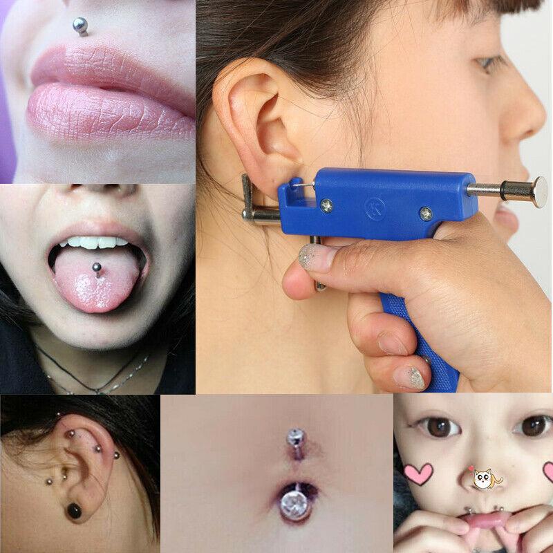 Painless Safety Ear Piercing Gun Set Ear Nose Navel Body Piercing Gun Kit With 36 Earring Studs