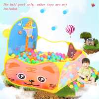 Foldable Cartoon Outdoor Sports Playground Kids Children Ocean Ball Pit Pool Baby Tent Ball Basket Gaming Toys Educational Toy