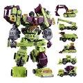 BESTE PREIS NBK Devastator 6IN1 Sets Bulldozer Bonecrusher GT KO Transformation Abbildung Spielzeug