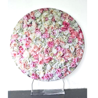 2m circle wedding props birthday decor round Pillow Case Backdrop with Frame stand wall shelf for photography
