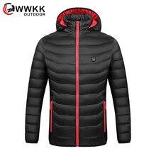 Мужские Качественные теплые защитные пальто с умным нагревом, для зарядки всего тела, Электрический Хлопок, для путешествий, треккинга, альпинизма