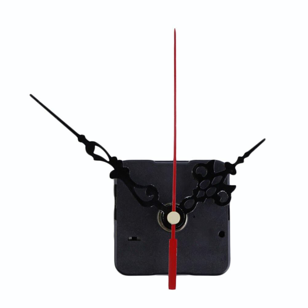 1 Set DIY Silent Wall Clock Quartz Movement Mechanism Black Red Wall Clock Quartz Clock Hour/Minute Hand Clock Movement