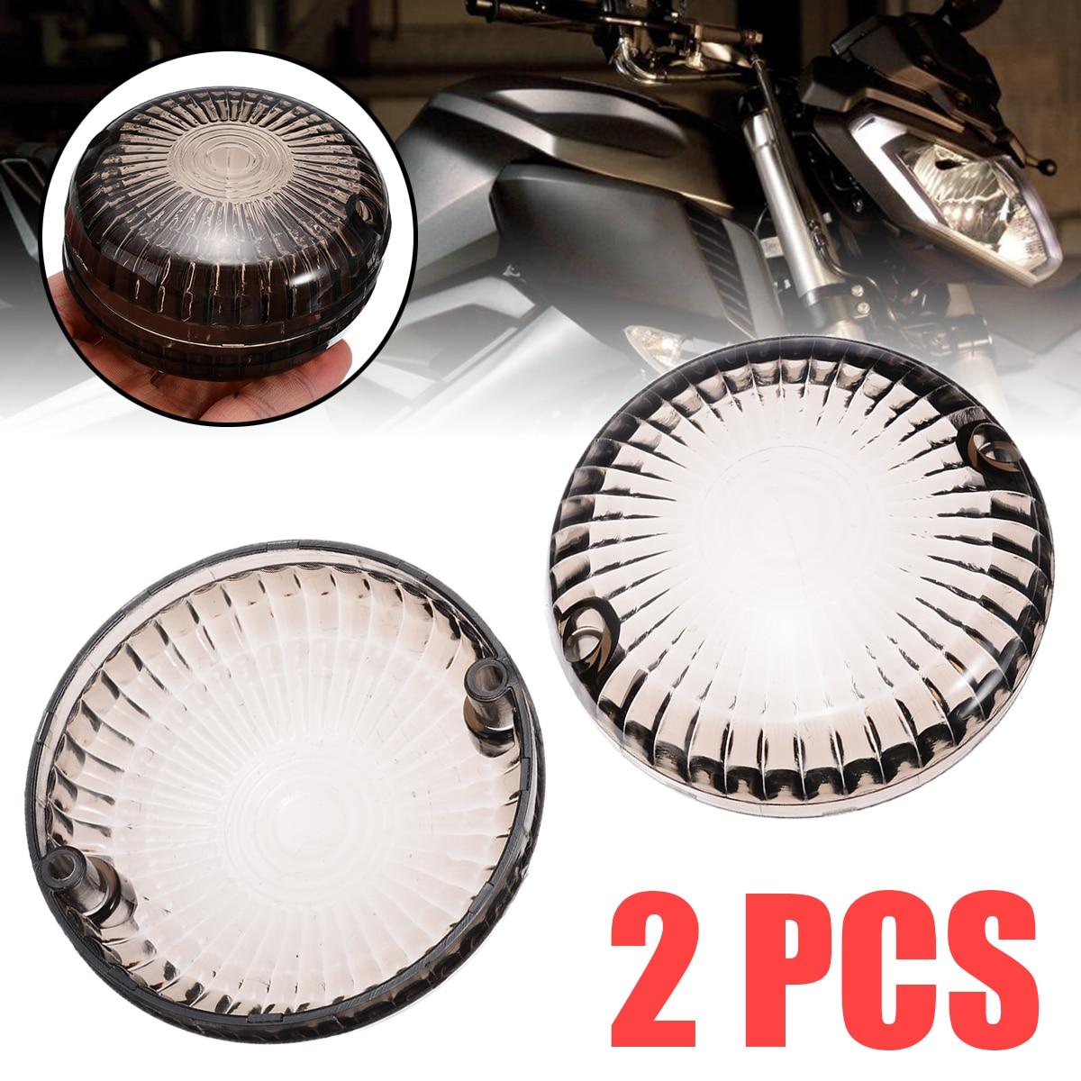 Mayitr 2Pcs Motorcycle Smoke Turn Signal Light Indicator Lens Cover For Yamaha V-Star 1100 Silverado 650 Road Star V-Max