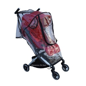 Image 3 - 1:1 Tailor Made Baby Stroller Accessories Goodbaby Raincoat Rain Cover Dust proof Cover Windproof Cover for GB POCKIT+ All City