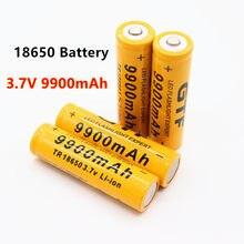 2-20 pces 3.7 v 18650 bateria de lítio 9900mah bateria de lítio recarregável para lanterna tocha acumulador pilha dropship