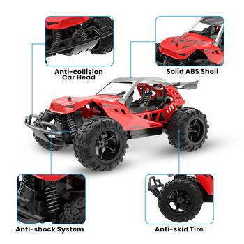 DEERC 1:22 Racing RC Car Rock Crawler Radio Control Truck 60 Mins Play Time 20 KM/H 2.4 GHz Drift Buggy Toy Car For Kids 2