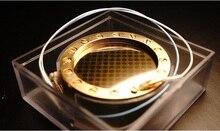 34มม.ด้านข้างขนาดใหญ่ Golden Edge สิ้นสุดไดอะแฟรมไมโครโฟนแคปซูลสำหรับ Ck 12 3สาย