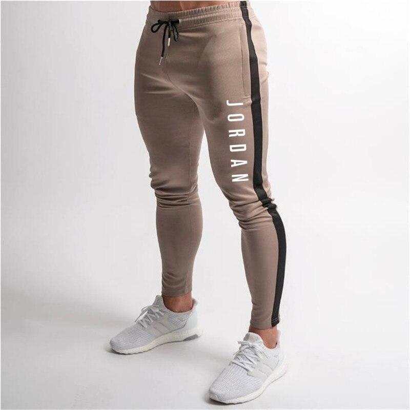 New Running Jogging Pants Men Cotton Soft Bodybuilding Joggers Sweatpants Long Trousers Gyms Fitness Sport Training Pants