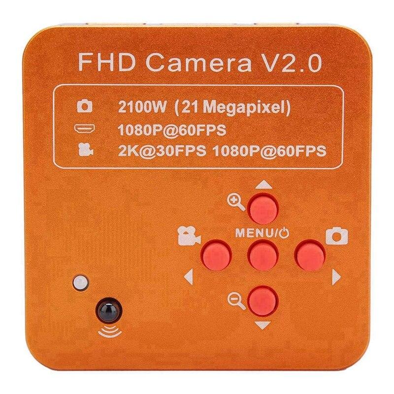 Microscope industriel Usb 21Mp Hdmi c-mount ensemble de caméra vidéo industrielle 2K 1080P Hd enregistreur vidéo/prise Us