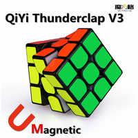 QIYI Mofangge Thunderclap V3 3x3x3 kostka magnetyczna szybkość zawodowa Puzzle magiczne magnesy kostki Stickerless Cubo Magico