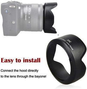 Image 5 - EW 53 geri dönüşümlü Lens Hood gölge Canon EF M 15 45mm F3.5 6.3 is STM Lens EOS M5 M6 mark II M50 Mark II M50 M200 M100 M10