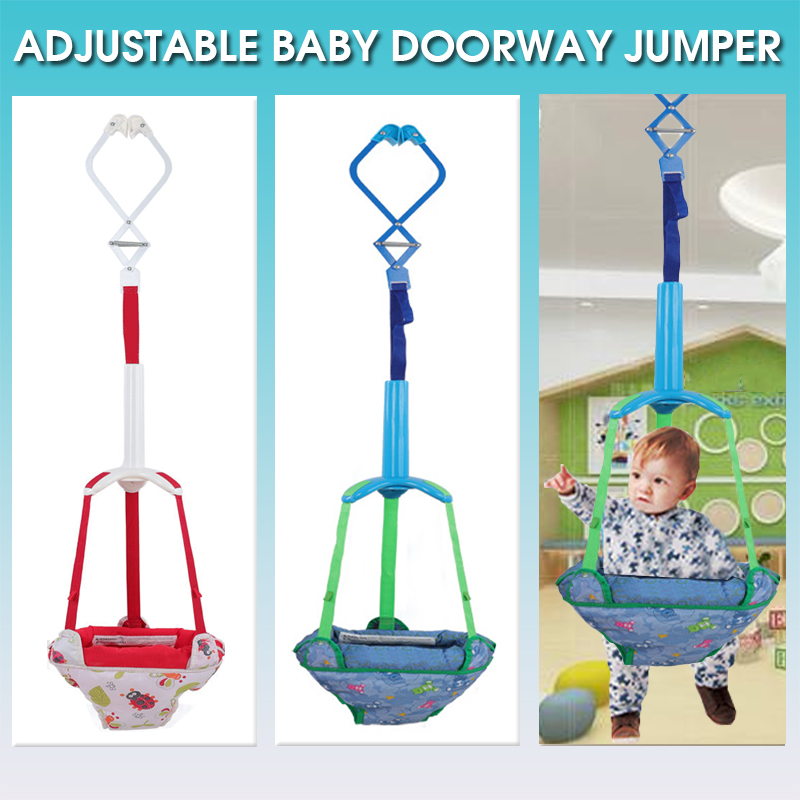 Baby Doorway Jumper Bouncing Infant Safety Toddler Toys Learning Adjustable Exercise Swing Hanging Seat Walker Indoor Activity