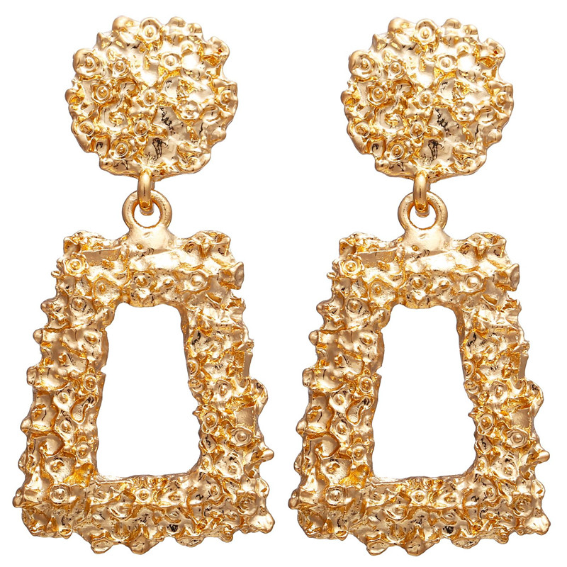 Ha69bf97ff6244b548e9ca309c7f750dbb - Hot Sale Gold Drop Earrings Jewelry Earrings For Women C Shaped Round Geometric Earring Female Fashion Jewelry Gifts