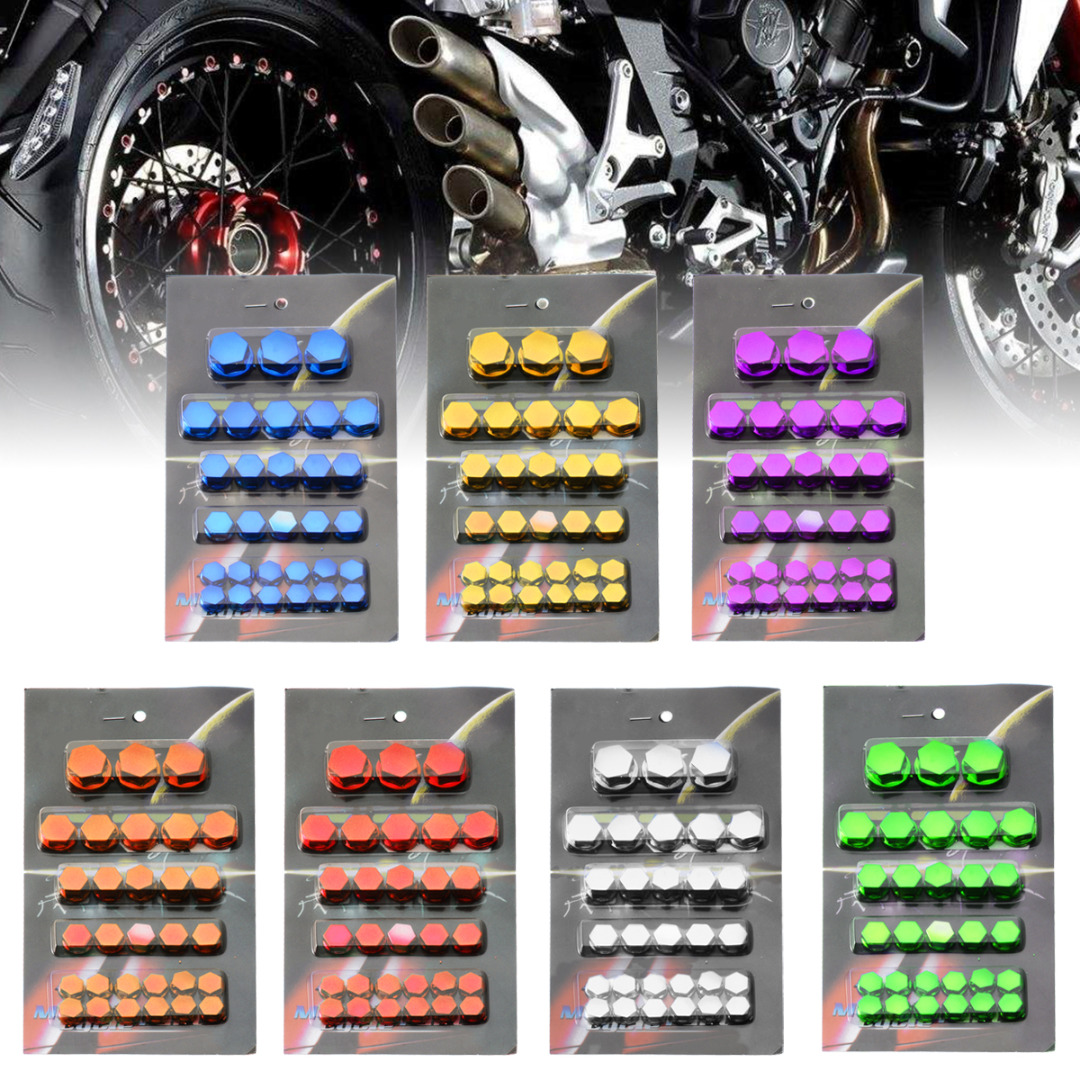 30x For Kawasaki Motorcycle Screw Nut Bolt Cap Cover Plastic different size kit