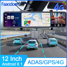 Car DVR Rearview-Mirror Auto-Camera ADAS Android Dual-Lens-Recorder Gps Wifi Registrar