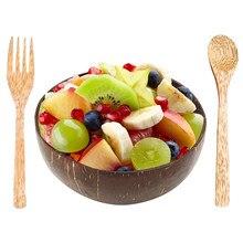 Natural tigela de coco decoração salada de frutas macarrão tigela de arroz de madeira tigela de frutas artesanato decoração criativa tigela de casca de coco