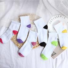 Женские короткие носки в стиле Харадзюку 5 пар хипстерские для