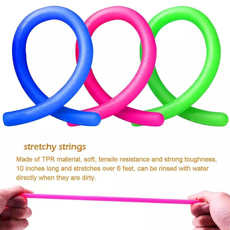 Fidget Toys Anti Stress Stretchy Strings Mesh Marble Relief Sensory Toy Set Gift img3