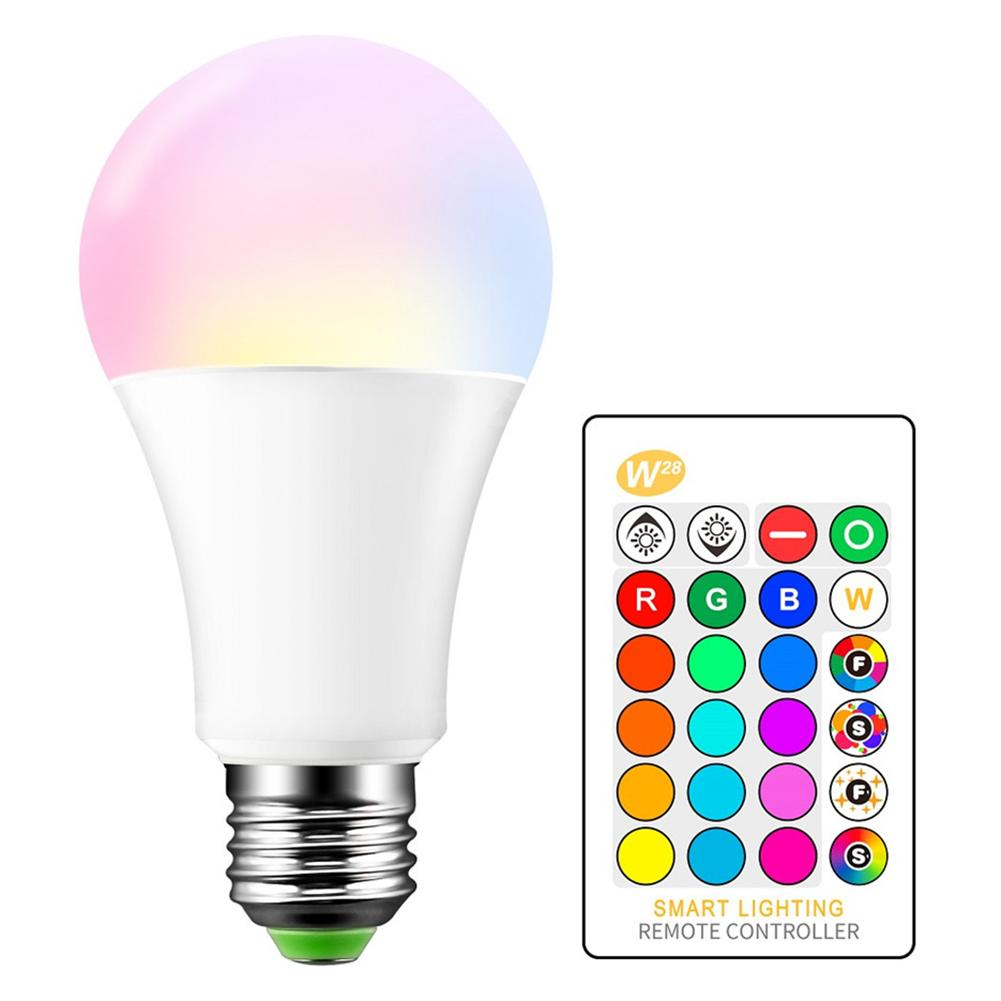 10W LED Lamp Bulbs Color Changing Bulb Smart Light Lamp Dimmable Memory Infrared Remote Control Memory Mode LED Light Bulb